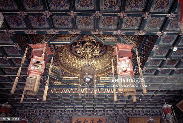 Ceiling of the Hall of Mental Cultivation Forbidden City Beijing China 15th century
