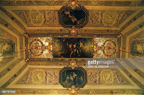 Ceiling of the Hall of Tapestries Quirinal Palace Rome Lazio Italy
