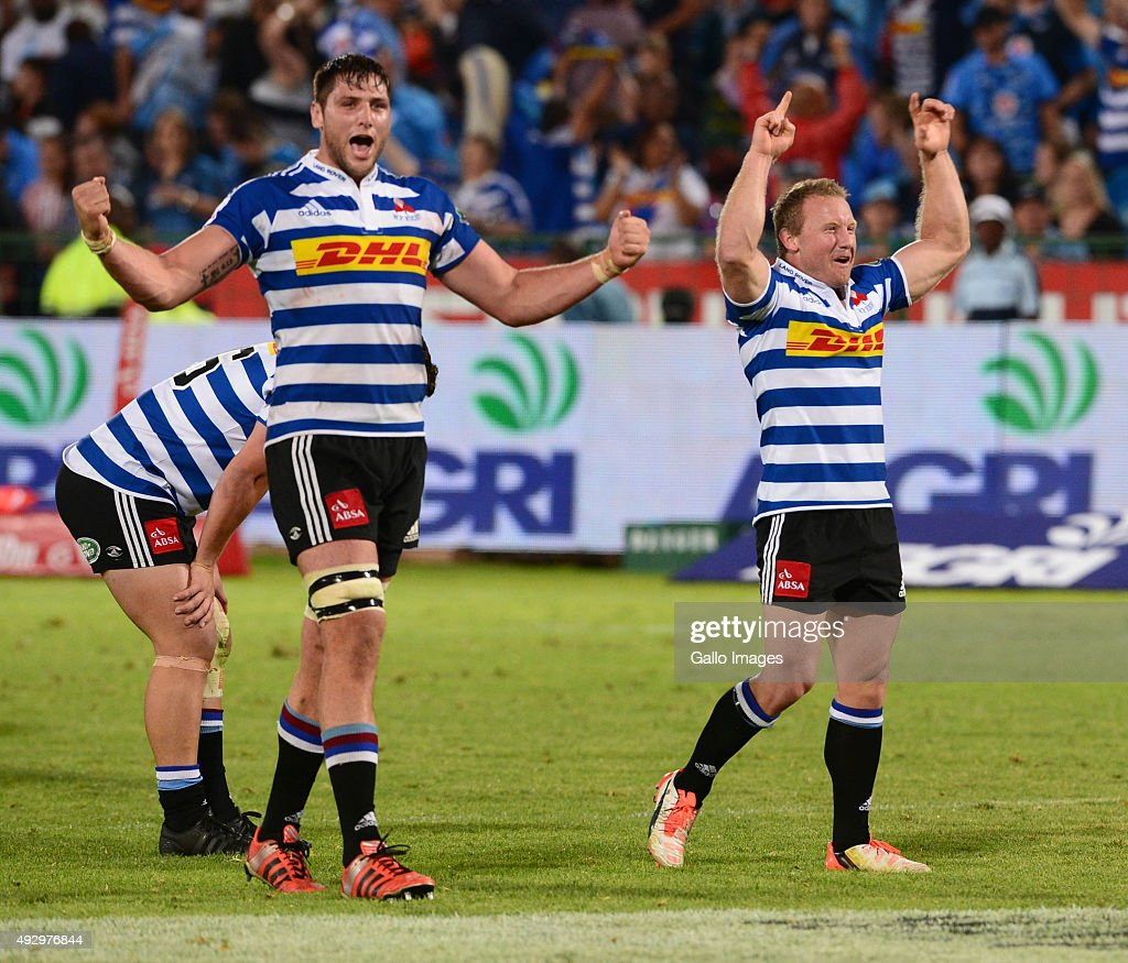 WP celebrate during the Absa Currie Cup semi final match between Vodacom Blue Bulls and DHL Western Province at Loftus Versfeld on October 16 2015 in...