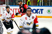 HV71 celebrate the 22 goal during the Champions Hockey League group stage game between JYP Jyvaskyla and HV71 Jonkoping on September 23 2014 in...