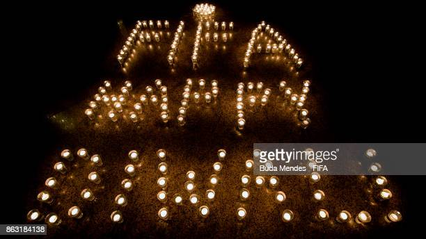 FIFA celebrate the Hindu festival of Diwali the annual festival of lights in India during of the FIFA U17 World Cup India 2017 tournament on October...
