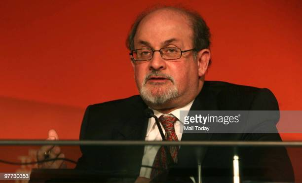 Celebrated writer and public intellectual Salman Rushdie speaks at the India Today Conclave in New Delhi on March 12 2010