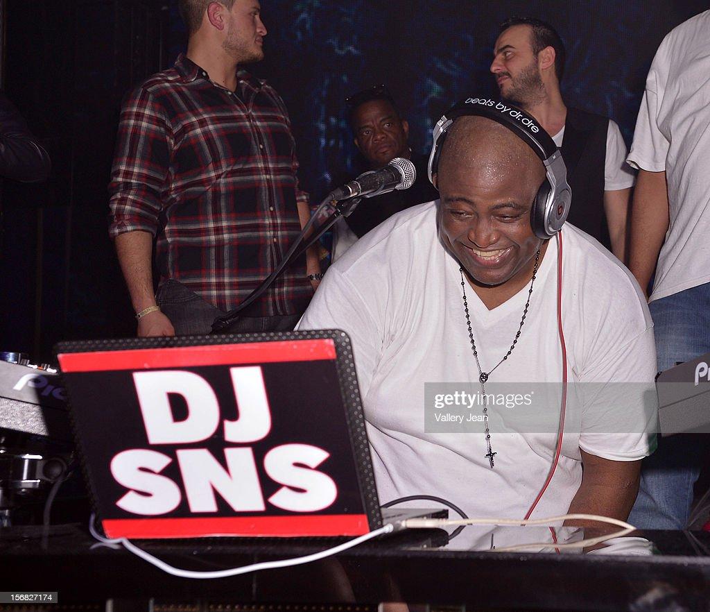 DJ SNS celebrates Thanksgiving at at Bamboo Miami on November 21, 2012 in Miami, Florida.