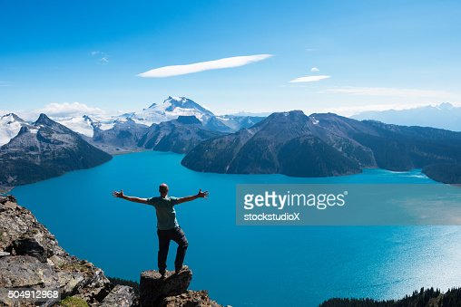 Celebrating a personal victory in stunning nature