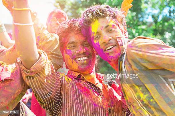 Celebrating Holi Festival of Colours India