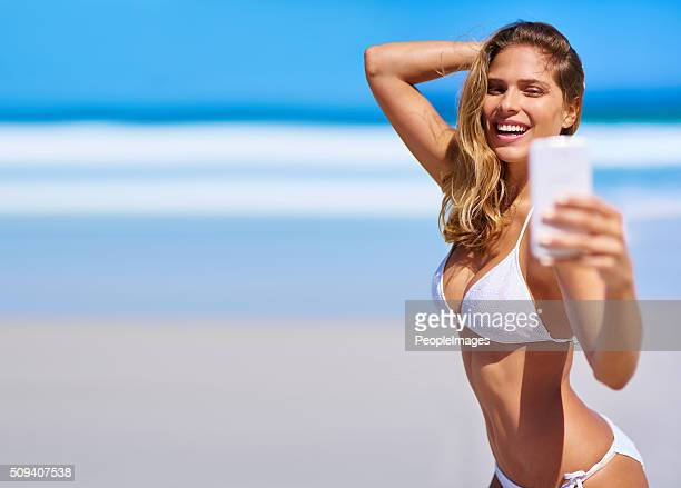 Celebrating summer with a sexy selfie