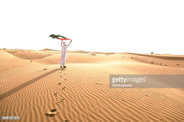 celebrating the uae national day on the desert