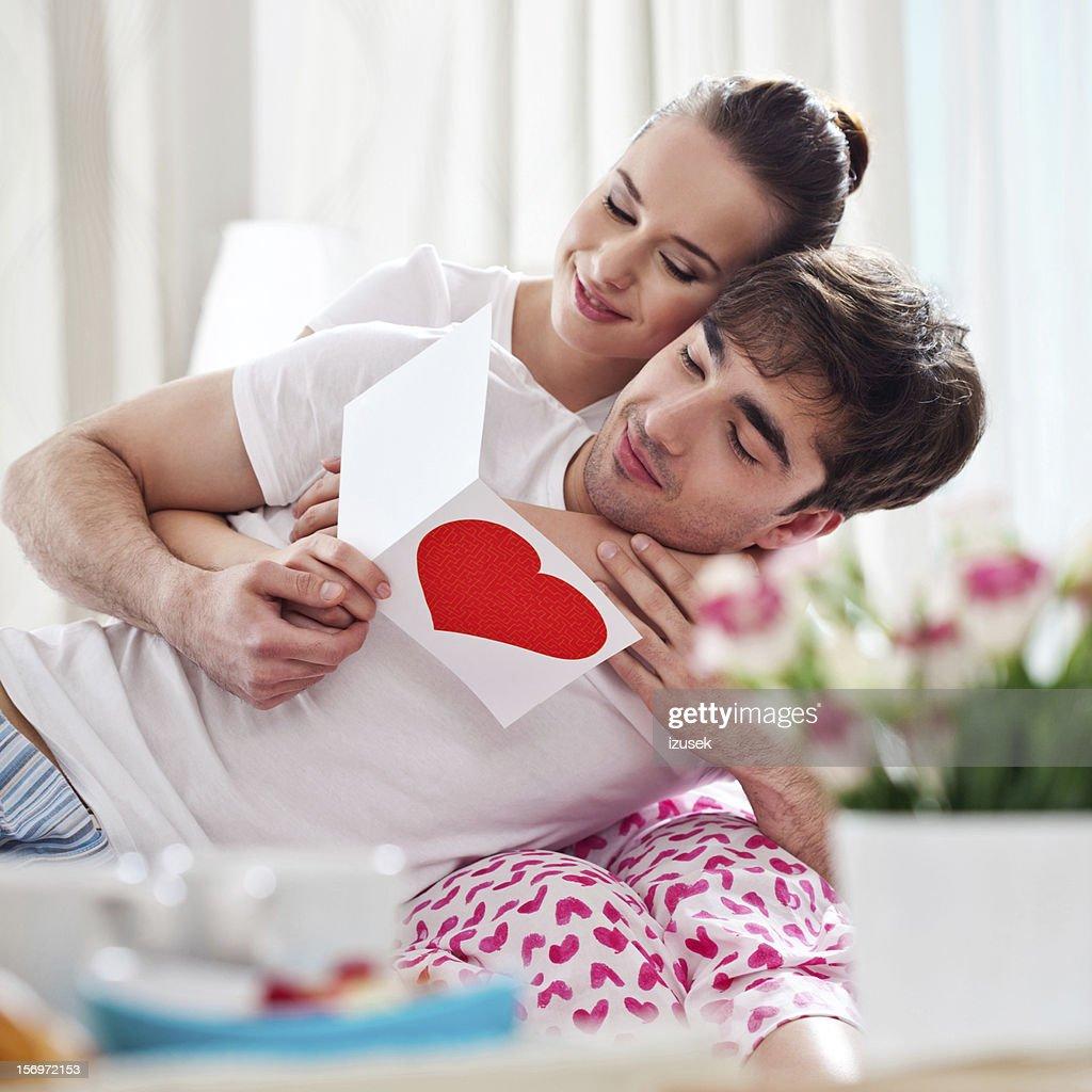 Celebrating Valentine' Day : Stock Photo