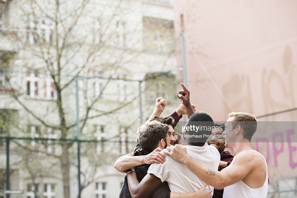 Celebrating Victory : Stock Photo