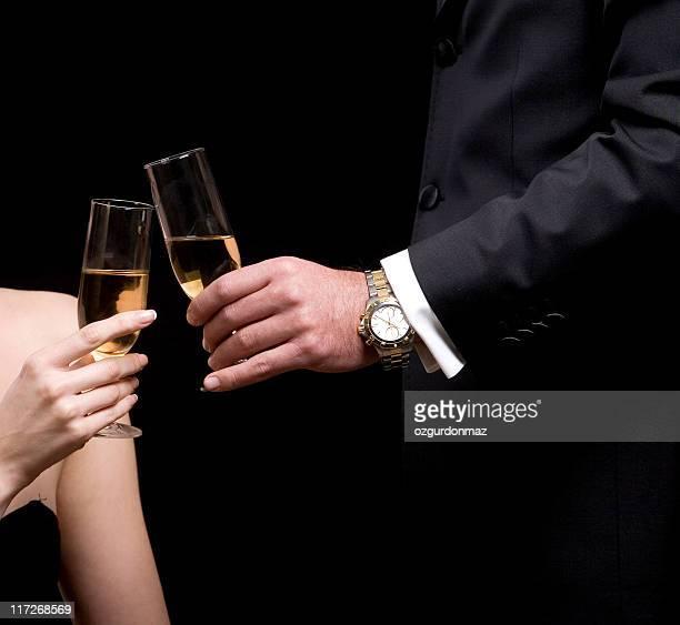 お祝いのシャンペン付き
