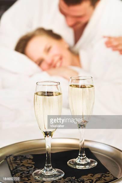celebrating young couple