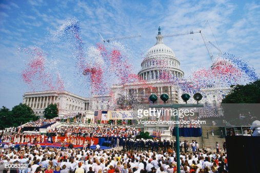 Celebration at the Capitol building, Washington, DC : Stock Photo