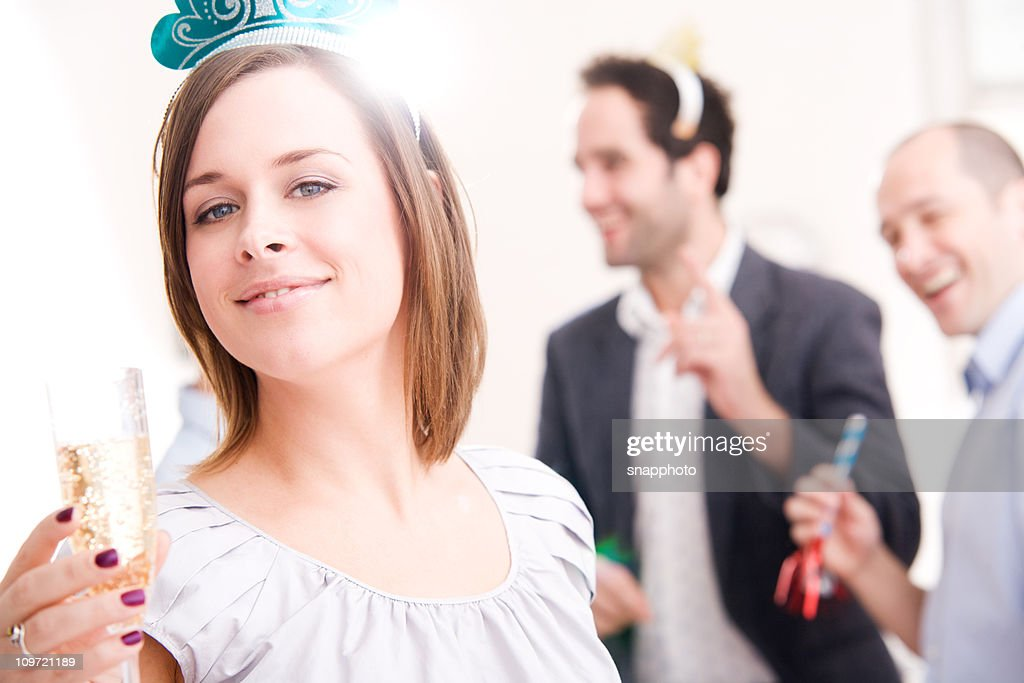 Celebration Group of People New Years Party or Birthday : Stock Photo
