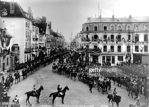 Celebration in the honour of the Tsar Nicholas II entering Compiègne France