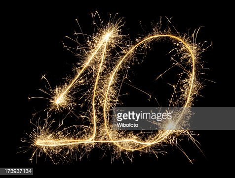 Celebration numbers series with black background