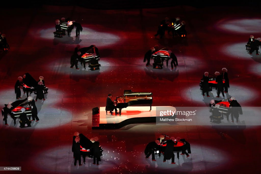 A celebration of Russian music during the 2014 Sochi Winter Olympics Closing Ceremony at Fisht Olympic Stadium on February 23, 2014 in Sochi, Russia.