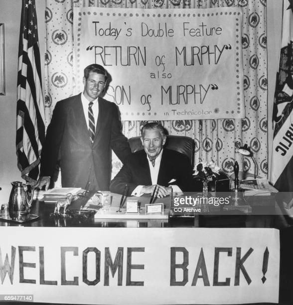 Celebration Of Sen George Murphy RCalif welcome back with banners
