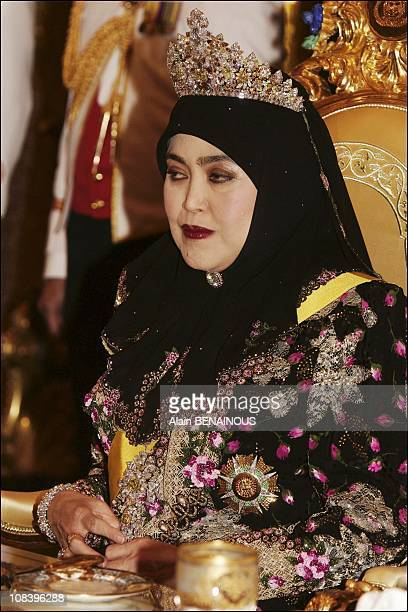 Celebration of the crown with the royal family in Bandar Seri Bagawan Brunei Darussalam on July 15 2004