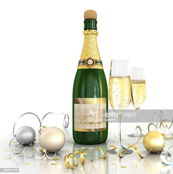 Celebration (Champagne - White background)