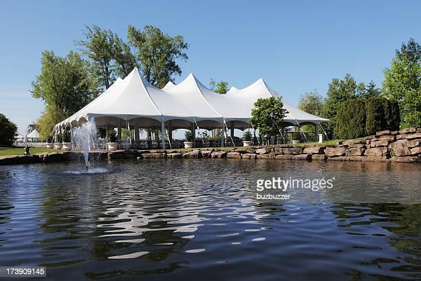 Celebration Tent and Backyard Pond