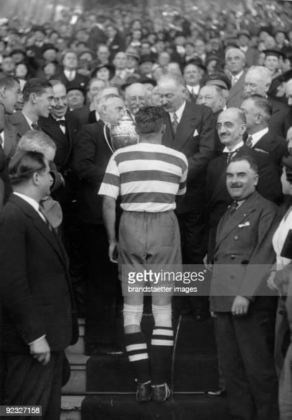 Celebrations after a soccer match FC Sète wins the 'Coupe de France' Yves du Manoir France Photographie May 6th 1934