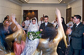 Celebrations at an Egyptian wedding.