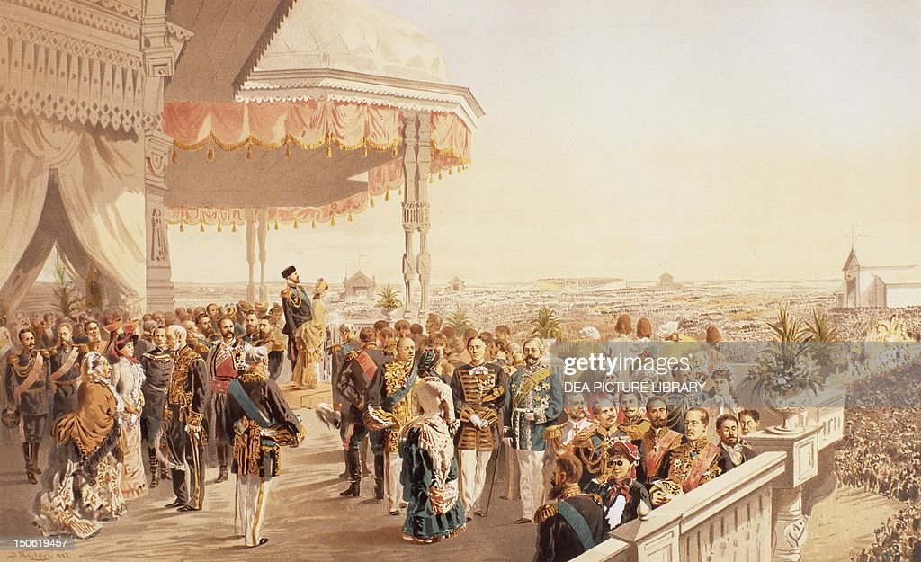 Celebrations for the coronation of Tsar Alexander III in 1881 Russia 19th century