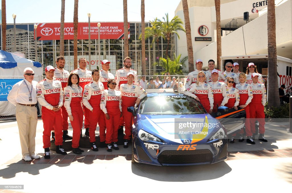 Celebrities and professionals participate in the 37th Annual Toyota Pro/Celebrity Race - Qualifying Day held on April 19, 2013 in Long Beach, California.