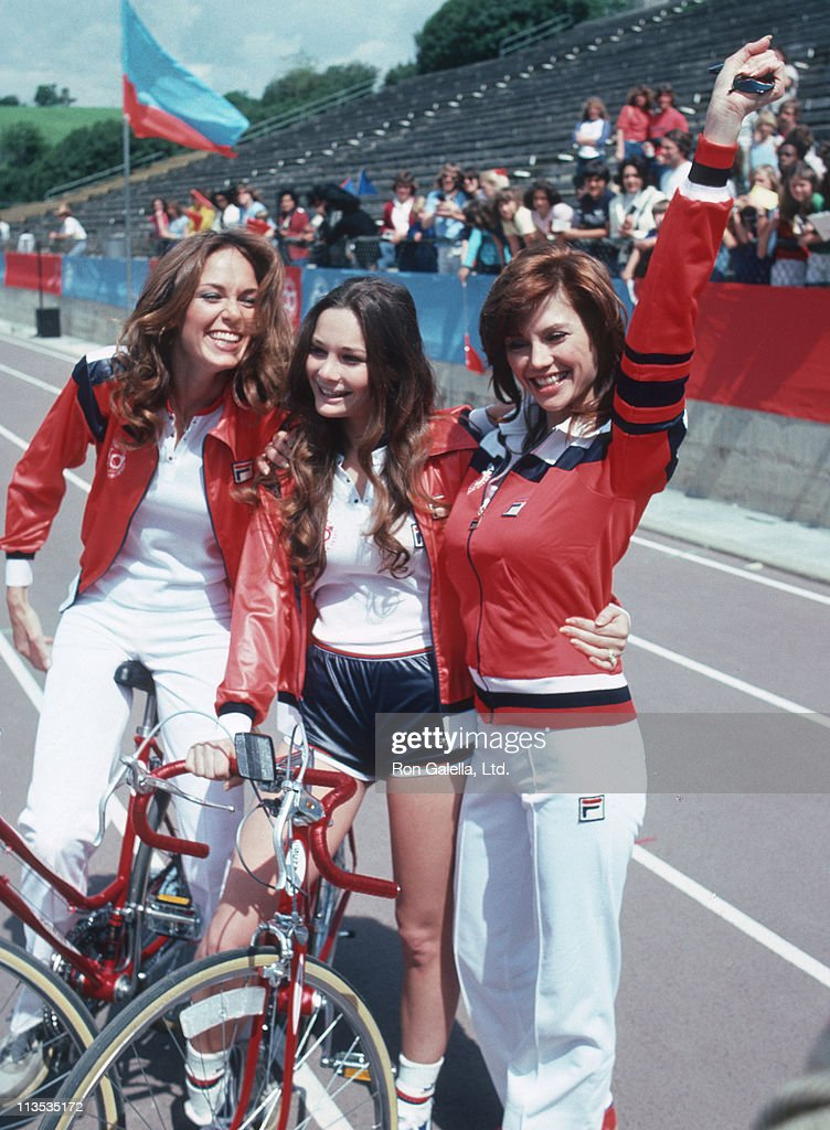 celebrities and <a gi-track='captionPersonalityLinkClicked' href=/galleries/search?phrase=Victoria+Principal&family=editorial&specificpeople=209035 ng-click='$event.stopPropagation()'>Victoria Principal</a> during 'Celebrity Challenge of the Sexes' at Mt. Sac, Stadium Pamona in Los Angeles, California, United States.