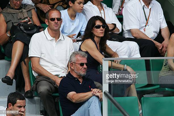Celebrities At 2008 Roland Garros Tournament In Paris France On June 01 2008 Guy Forget and his wife