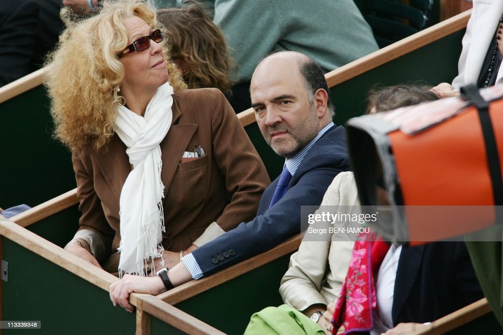 Celebrities At 2008 Roland Garros Tournament In Paris, France On June 04, 2008 - <a gi-track='captionPersonalityLinkClicked' href=/galleries/search?phrase=Pierre+Moscovici&family=editorial&specificpeople=667029 ng-click='$event.stopPropagation()'>Pierre Moscovici</a>.