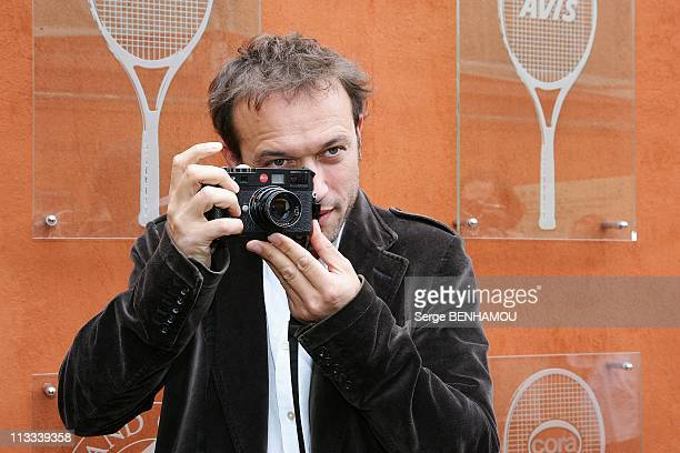 Celebrities At 2008 Roland Garros Tournament In Paris France On June 06 2008 Vincent Perez