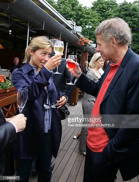 Celebrities at 2008 Roland Garros Tournament In Paris France On June 06 2008AnneSophie Lapix and Patrick Poivre d'Arvor