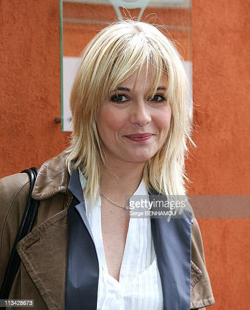 Celebrities At 2009 Roland Garros Tournament In Paris France On May 29 2009 Flavie Flament