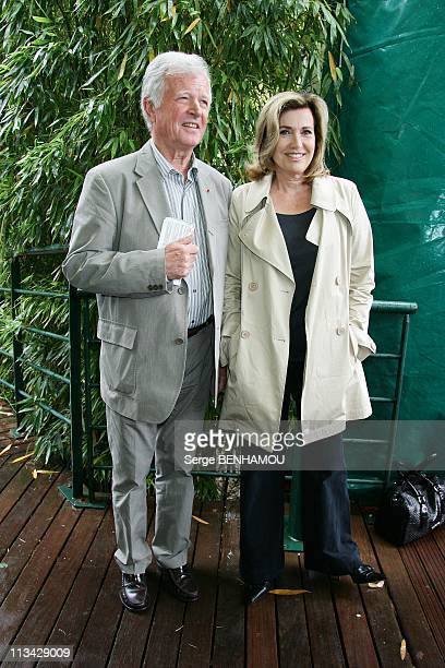 Celebrities At 2009 Roland Garros Tournament In Paris France On May 26 2009 Catherine Alric and her husband JeanLoup Chretien