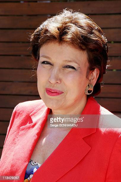 Celebrities At 2009 Roland Garros Tournament In Paris France On May 31 2009 Roselyne Bachelot