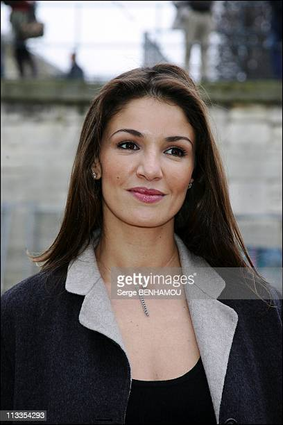 Celebrities At Dior FallWinter 2008 Ready To Wear Fashion Show In Paris France On February 27 2007 Nadia Fares