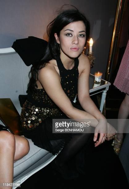Celebrities At Dior FallWinter 20092010 Ready To Wear Fashion Show In Paris France On March 06 2009 Mylene Jampanoi