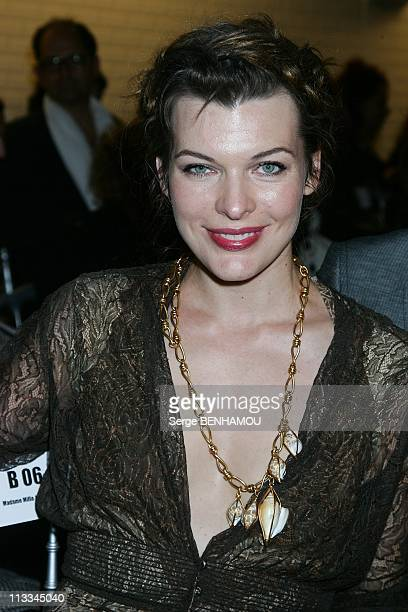 Celebrities At Gaultier Ready To Wear SpringSummer 2009 Fashion Show In Paris France On September 30 2008 Milla Jovovich