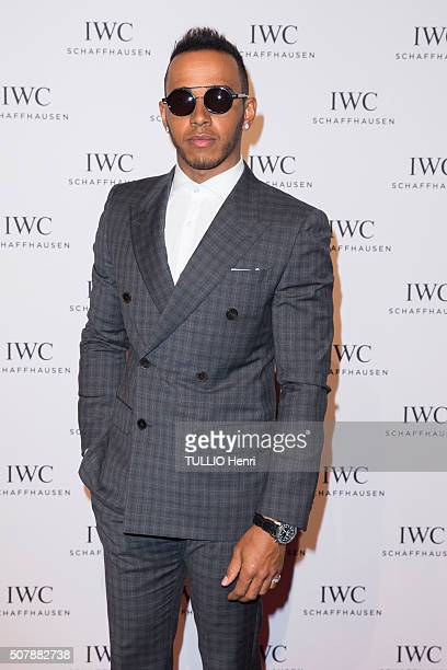 Celebrities at the Evening gala for the luxury watchmaker IWC SCHAFFAUSEN for its new collection Lewis Hamilton