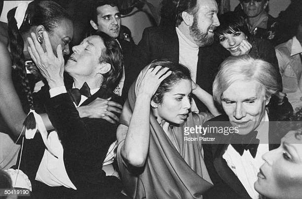 Celebrities during New Year's Eve party at Studio 54 Halston Bianca Jagger Jack Haley Jr Liza Minnelli Andy Warhol