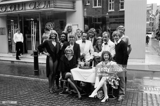 Celebrities including Andrew Sachs Matthew Kelly henry Kelly Bonnie Langford Su Pollard Cheryl Baker and Mike Nolan of Bucks Fizz taking part in a...