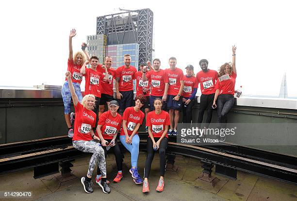 Celebrities including Calum Best Martin Lewis Gail Porter James Hill Nell McAndrew Jake Sims and Rachel Christie take part in the Shelter Vertical...