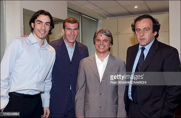 Celebrities participate in recording of ELA TV show to be aired in May three weeks before the 2002 Soccer World Cup in France on March 13 2002 Robert...