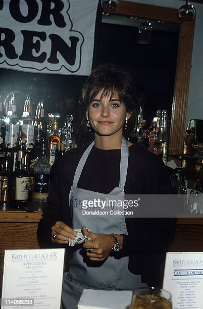 Celebrity Bartender Courteney Cox poses for a portrait in c1995 in Los Angeles California