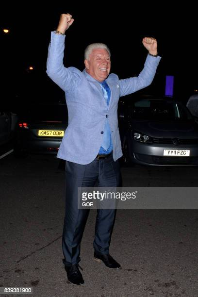 Celebrity Big Brother 2017 contestants arriving at their hotel pictured Derek Acorah on August 25 2017 in London England
