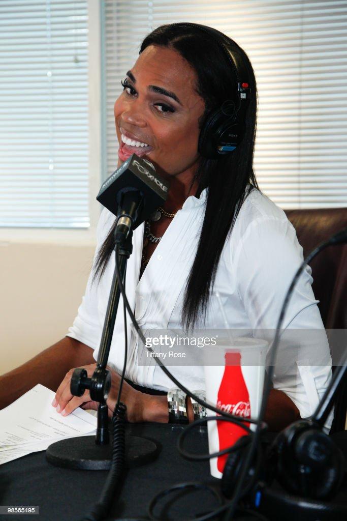 Celebrity Blogger B Scott launches his radio show at Foxxhole Sirius/XM Radio on April 19 2010 in Los Angeles California