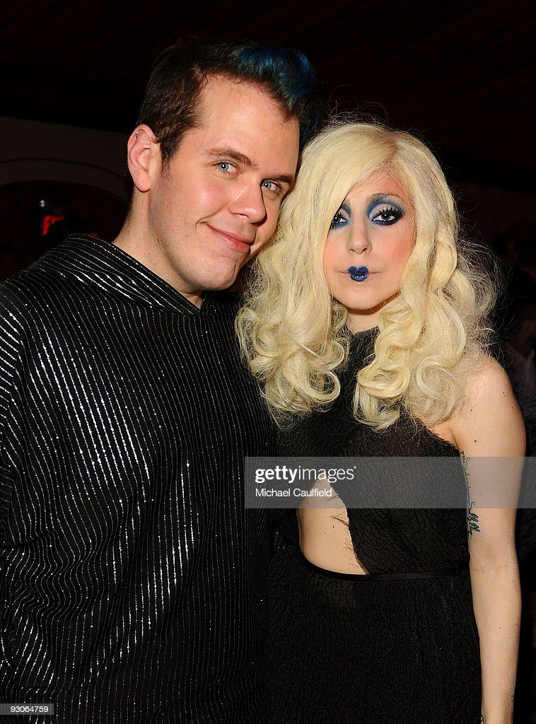Celebrity blogger Perez Hilton and musician Lady Gaga attend the MOCA NEW 30th anniversary gala held at MOCA on November 14, 2009 in Los Angeles, California.