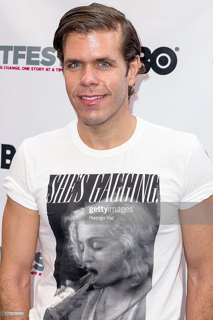 Celebrity blogger Perez Hilton arrives at 13th Annual Outfest Opening Night Gala of 'C.O.G.' at Orpheum Theatre on July 11, 2013 in Los Angeles, California.