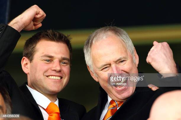 Celebrity Chairman Nick Owen during the Skrill Conference Premier match between Luton Town and Braintree Town at Kenilworth Road on April 12 2014 in...